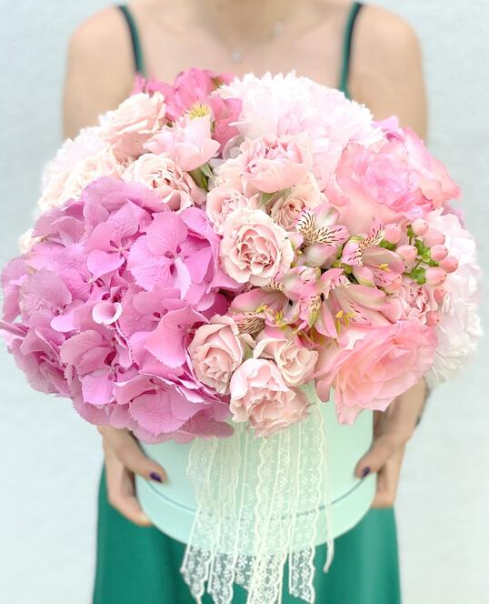 Cutie cu Flori Roz