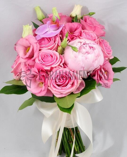 Buchet de Mireasa din flori Roz