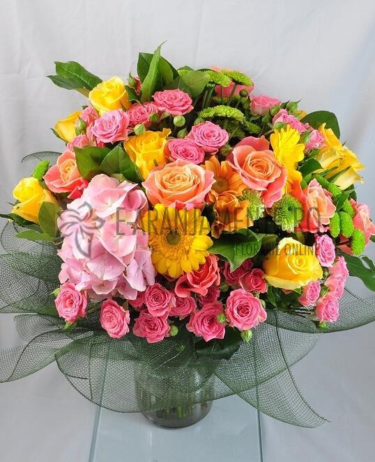 Buchet cu Flori Viu Colorate