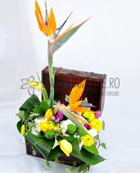 Cufar cu Flori Viu Colorate