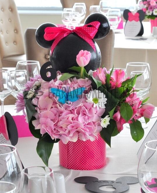 Aranjament Floral Minnie Mouse