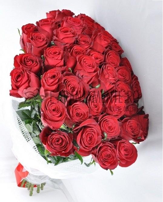 Buchet 45 Trandafiri Rosii