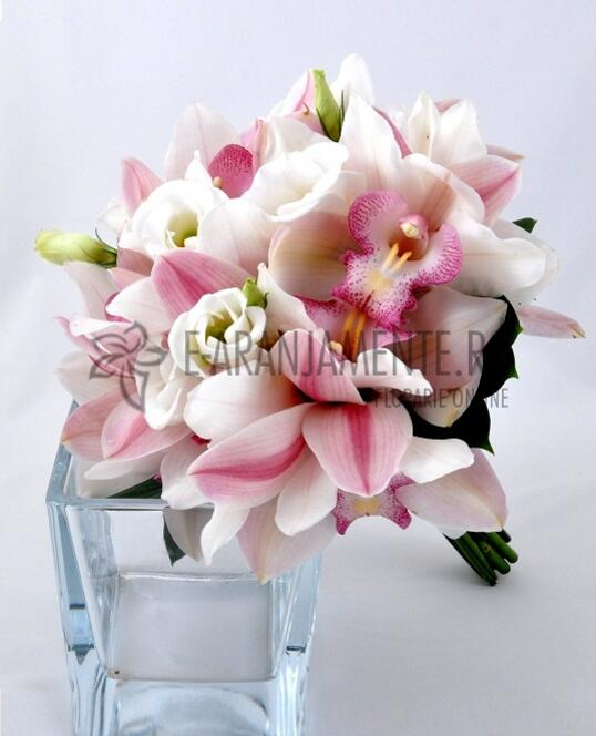 Buchet De Mireasa Din Orhidee Imperiala Alba